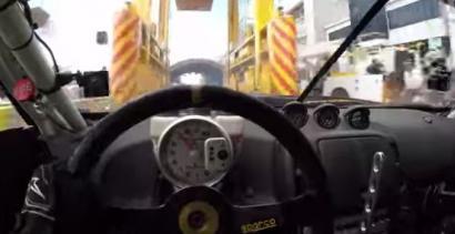 Drift z perspektywy kierowcy