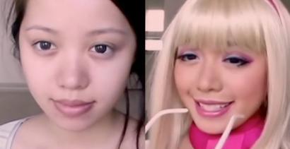 Ta dziewczyna potrafi zamienić się w Barbie!