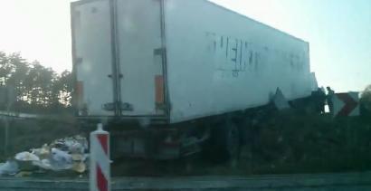 Potężny wypadek samochodowy w Żyrardowie