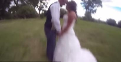 Wypadek drona podczas kręcenia ślubu