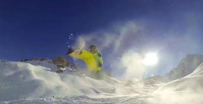 Z GoPro na snowboardzie