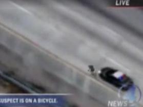 Ucieka przez policją... na rowerze!