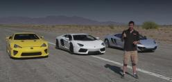Bugatti Veyron vs Lamborghini Aventador vs Lexus LFA v McLaren Mp4-12C
