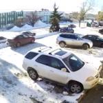Poranny wyjazd z parkingu
