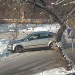 Śliskie skrzyżowanie na Litwie