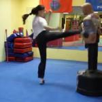 Młodociana mistrzyni taekwondo