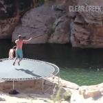 Skok z klifu... na trampolinie!