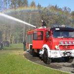 Strażacy robią tęczę