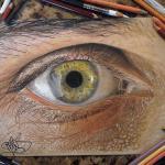 Hiperrealistyczne rysunki oczu