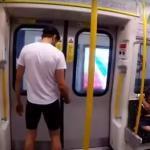 Ten gość ściga się z metrem!