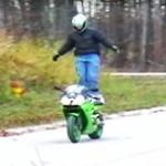 Motocyklista przeliczył swoje możliwości