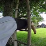 Dominik Sky - pokaz skoków przez okna