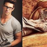 Koty w roli profesjonalnych modeli