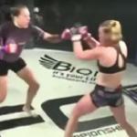 Błyskawiczne KO w babskim MMA