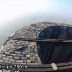 Wspinaczka na 280 metrowy komin