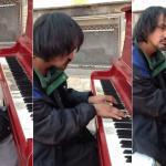 Bezdomny zaskoczył wszystkich swoją grą na pianinie