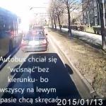Kierowca autobusu popisuje się wojskową polszczyzną