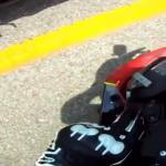 Motocyklowy drifting z brzydkim finałem