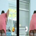 Seksowna pokojówka w ukrytej kamerze