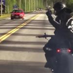 Driftowanie Hayabusą na drodze publicznej
