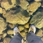 Krystalicznie czysty lód w słowackich Tatrach