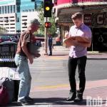 Magik kontra bezdomny na ulicy