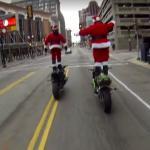 Święty Mikołaj zamienił renifery na motocykl