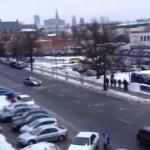 Policja vs kibice - wojna na śnieżki