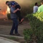 Anonimowy bohater uratował mężczyznę z płonącego budynku