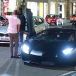 Wściekły gość rzuca jabłkami... w Lamborghini Aventador!