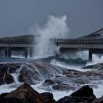 Norwegia - niebezpieczna droga nad oceanem