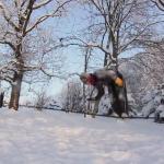 Zimowy trening na linie