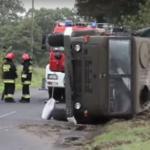 Wypadek wojskowej ciężarówki. Rannych 8 żołnierzy!