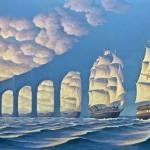Iluzje optyczne, wpisane w sztukę