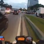Rajd motocyklem przez miasto