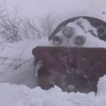 Odśnieżanie trasy kolejowej - MASAKRA!