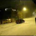 Oblodzona górka vs auto