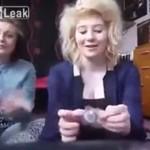 Dziewczyny wciągają kondomy... przez nos!
