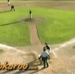 Awionetka przerwała mecz baseballowy