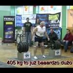 Dziadek podnosi 405 kilogramów!