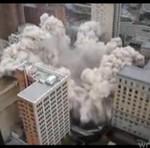 Implozja budynku - udana!