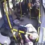 Awaryjne nagłe hamowanie autobusu MZK SŁUPSK 2014