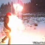 Chciał lepiej przyjrzeć się sztucznym ogniom