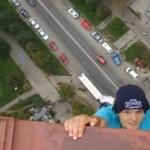 Wspiął się na wysokość 150 metrów