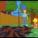 Marge Simpson też broni krzyża!