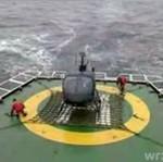 Wypadek helikoptera na statku