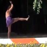 Pijana gimnastyczka z Rosji