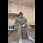 Żołnierz śpiewa piosenkę Rihanny - PIĘKNE!