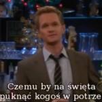 Życzenia świąteczne od Barneya Stinsona