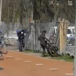 Rowerzyści vs wiatr - HOLANDIA